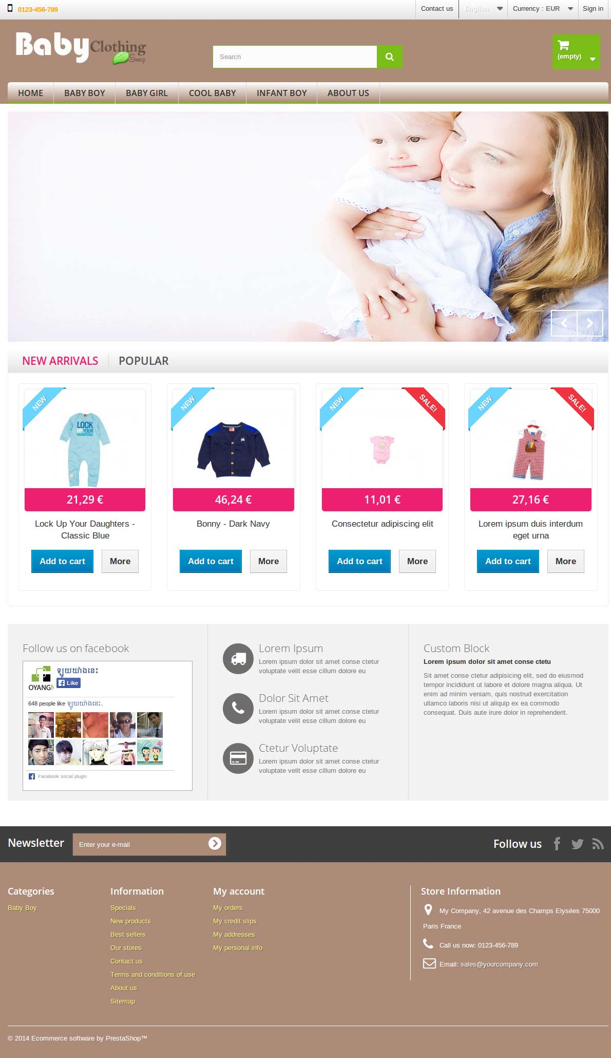 E-Commerce Template Bady Clothing